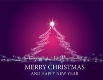 Shining Christmas tree Royalty Free Stock Photos