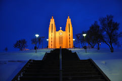 Shining church, Akureyri, Iceland Royalty Free Stock Image