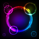 Shining circles cosmic vector background Royalty Free Stock Image