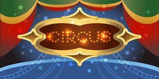 Shining circus poster Royalty Free Stock Photography