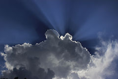 Shining clouds in North Bengal. Laughing clouds in north Bengal Stock Images