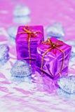 Shining colorful Christmas presents Royalty Free Stock Photo