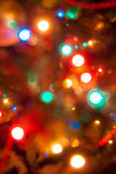 Shining colorful lights on christmas tree Royalty Free Stock Image