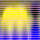 Shining colors abstract background. Shining lights and shapes, abstract background in blue, yellow and pink hues. Abstract background Stock Illustration
