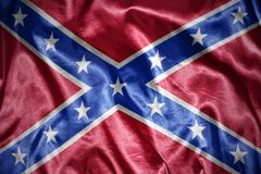 Shining confederate flag. Waving and shining confederate flag Royalty Free Stock Images