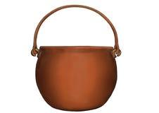A shining copper cauldron Royalty Free Stock Image