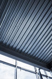 Shining corrugated metal ceiling Royalty Free Stock Photo