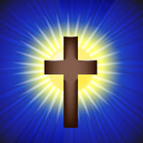 Shining Cross  Background Royalty Free Stock Photos