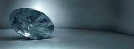Shining crystal diamond on blue background. Shining crystal diamond on a blue background stock illustration