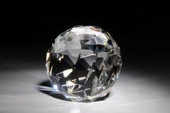 Shining crystal round shape Royalty Free Stock Image