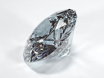 Shining diamond on a white background, side view Royalty Free Stock Image
