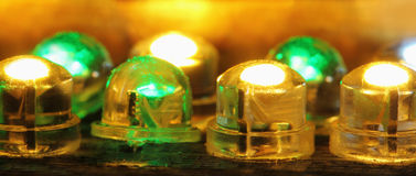 Shining diodes Royalty Free Stock Photo