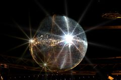 Shining disco ball. Big shining disco ball Royalty Free Stock Photos