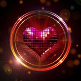 Shining disco heart Royalty Free Stock Photo