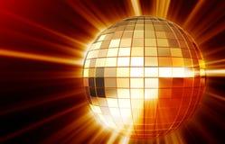 Shining disco mirrorball Stock Photo