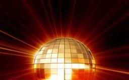 Shining disco mirrorball Royalty Free Stock Photography