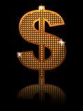 Shining dollar sign Stock Photo