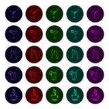 Shining drinks vector icons stock illustration