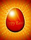 Shining easter egg card with gold elements Stock Images