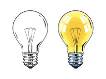 Shining Electric bulb Royalty Free Stock Image