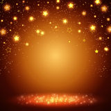 Shining empty space with stars Royalty Free Stock Photo
