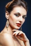 Shining face makeup Stock Image