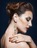 Shining face makeup Stock Images