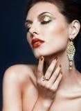 Shining face makeup Royalty Free Stock Image