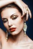 Shining face makeup Stock Photography