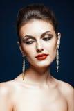 Shining face makeup Royalty Free Stock Photos