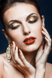 Shining face makeup Stock Images