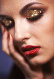 Shining face makeup Royalty Free Stock Photography