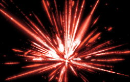 Shining a fantastic radial blast red tint.Fractal Royalty Free Stock Image
