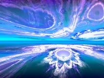 Shining fantastic white horizon Stock Photography