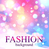 Shining fashion blur bokeh background for beauty. Design. Vector illustration Royalty Free Stock Images