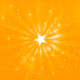 Shining festive golden background. With stars Stock Photo