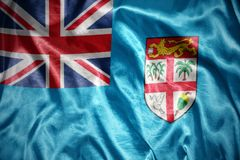 Shining fiji flag Stock Photo