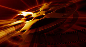 Shining film reel. Film reel with impressive shine Royalty Free Stock Photos