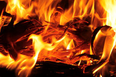 Shining flames Stock Photography