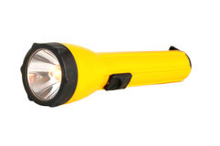 Shining flashlight Stock Photos