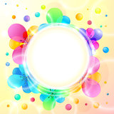 Shining flowers circle vector background Stock Image