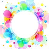 Shining flowers circle vector background Stock Photography