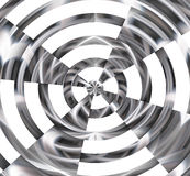 Shining forms in black and white, abstract background Stock Photo