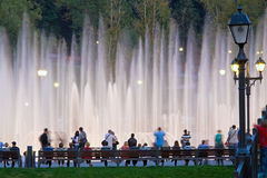 Shining fountain Royalty Free Stock Images