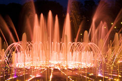 Shining fountain Royalty Free Stock Photography