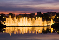 Shining fountain Royalty Free Stock Photos