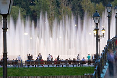Shining fountain Stock Images