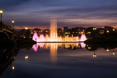 Shining fountain Royalty Free Stock Image