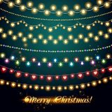 Shining garlands. Christmas lights for celebratory Royalty Free Stock Photography