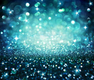 Shining glitter - blue Stock Images